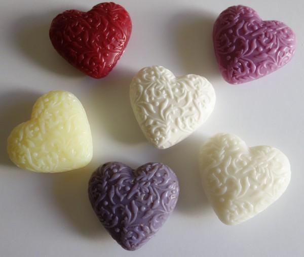 Schafmilchseife Ornament-Herz