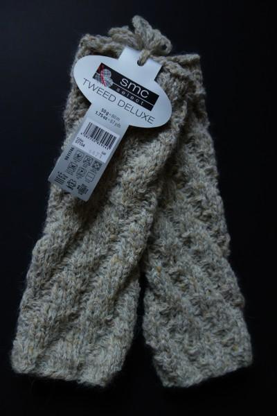 Armstulpen aus Alpaka-Tweed
