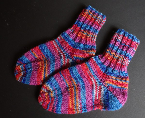 Kindersocken pink-bunt
