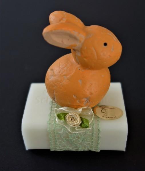 Florex Schafmilchseife mit Keramikhäschen