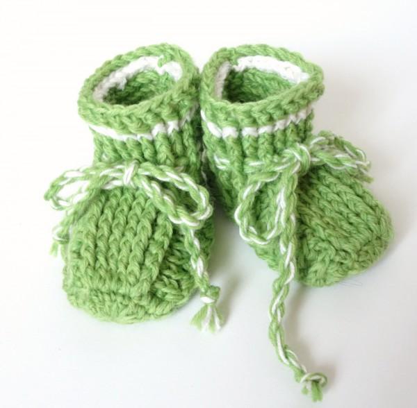 Babyschuhe Hellgrün