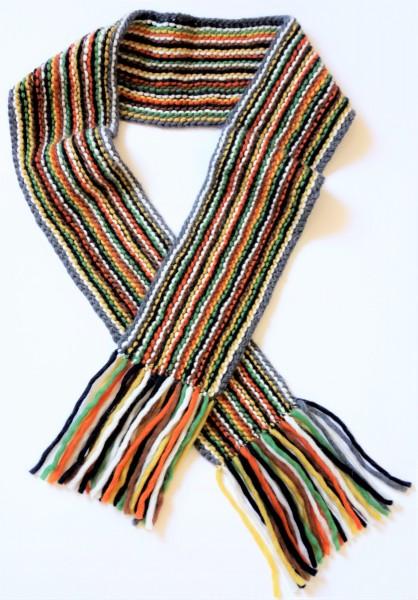 Gestreifter Schal aus Reiner Merinowolle