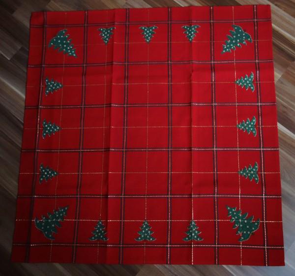 Weihnachtskarodecke in rot-gold